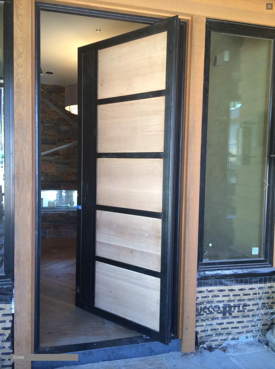 Steel Amp Wood Pivot Doors Red Horse Custom Pivot Doors
